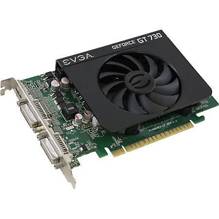 EVGA GeForce GT 730 - Graphics card - GF GT 730 - 1 GB DDR3 - PCIe 2.0 x16 - 2 x DVI, Mini-HDMI