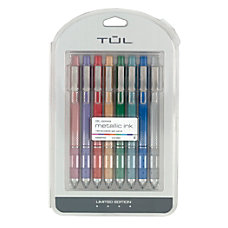 TUL Metallic Retractable Gel Pens Medium