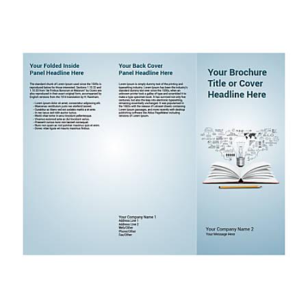 Customizable Trifold Brochure, Book Pencil Bulb