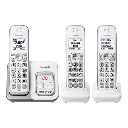 Panasonic® DECT 6.0 Cordless Phone System, White, KX-TGD433W