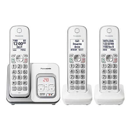 Panasonic® DECT 6 0 Cordless Phone System, White, KX-TGD433W Item # 8167962