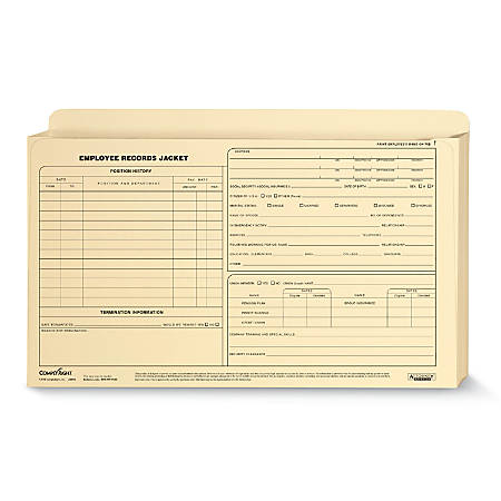 "ComplyRight™ Expanded Employee Record Folders, Legal, 15"" x 9 1/2"" x 1"", Pack Of 25"