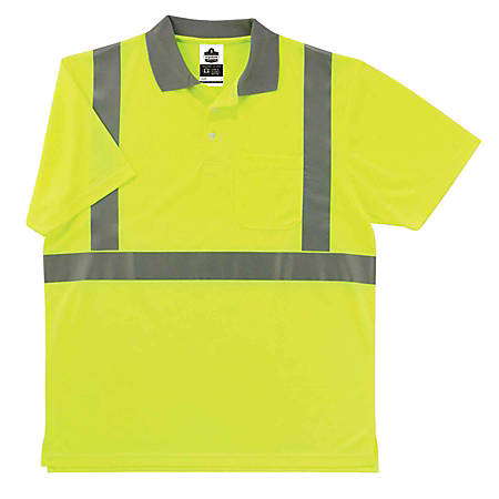Ergodyne GloWear 8295 Type R Class 2 Polo Shirt, Medium, Lime