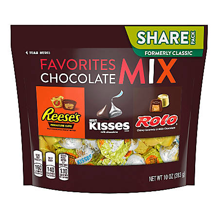 Hershey's® Chocolate Mix Candy Assortment, 10 Oz Bag, Pack Of 3 Bags