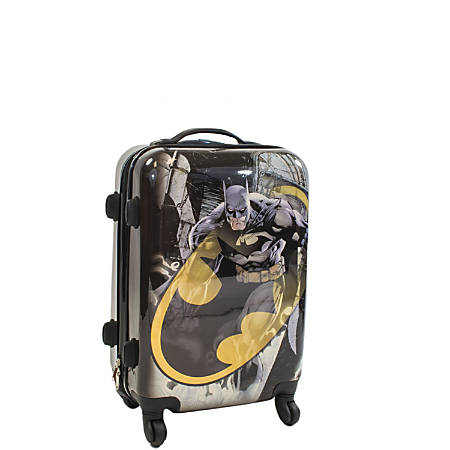 """ful DC Comics Upright Rolling Suitcase, Batman, 20""""H x 14 3/8""""W x 9 3/4""""D, Multicolor"""
