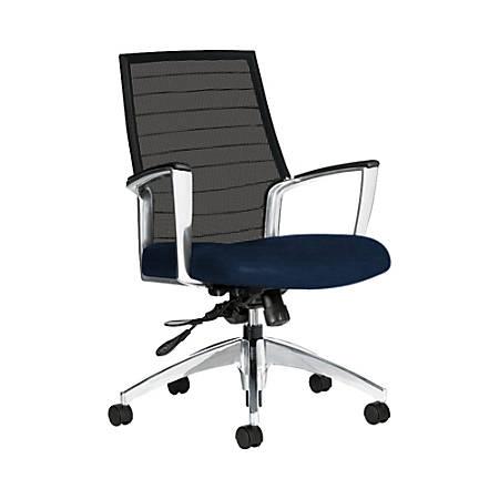 "Global® Accord Mesh Mid-Back Tilter Chair, 37""H x 25""W x 25""D, Blue Bayou"