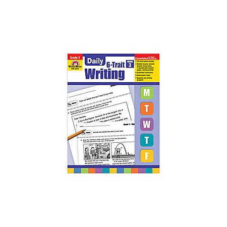 Evan-Moor® Daily 6-Trait Writing Workbook, Grade 3