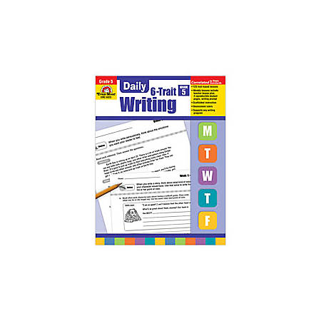Evan-Moor® Daily 6-Trait Writing Workbook, Grade 5