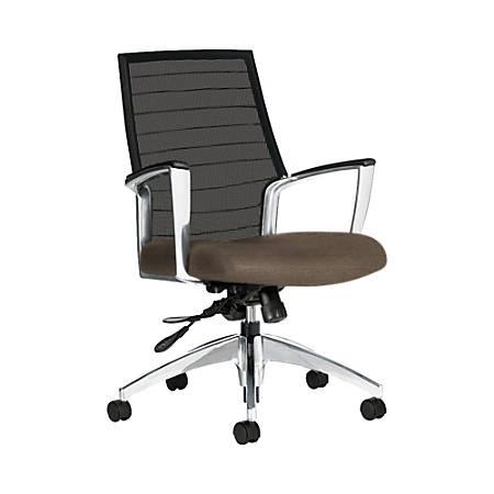 "Global® Accord Mesh Mid-Back Tilter Chair, 37""H x 25""W x 25""D, Earth"