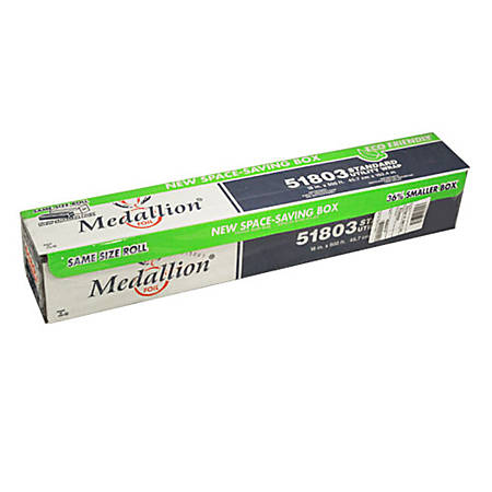 "Medallion Cutterbox Aluminum Foil Roll, 18"" x 500', Silver"