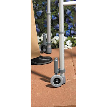 Medline Walker Wheel Brakes, Gray, Case Of 2