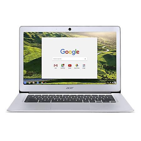 "Acer® Refurbished Chromebook, 14"" Screen, Intel® Celeron®, 4GB Memory, 32GB Flash Storage, Google™ Chrome OS, NX.GC2AA.007"