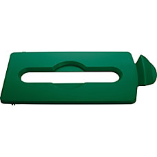 Rubbermaid Commercial Slim Jim Lid Green
