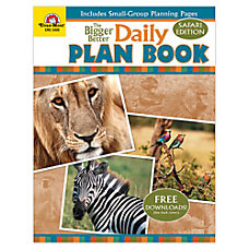 Evan Moor Daily Plan Book Safari