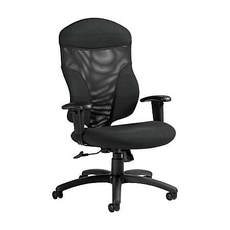 "Global® Tye Mesh Tilter Chair, High-Back, 45 1/2""H x 25""W x 26""D, Granite Rock/Black"