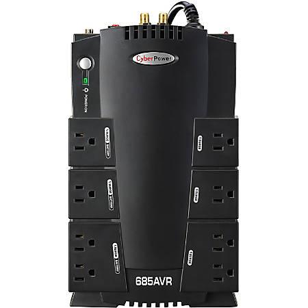 CyberPower® CP685AVR Uninterruptible Power Supply, 8 Outlets, 685VA/390 Watt