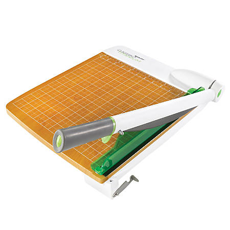 "Westcott® CarboTitanium Guillotine Heavy-Duty Trimmer, 18"", White/Green"