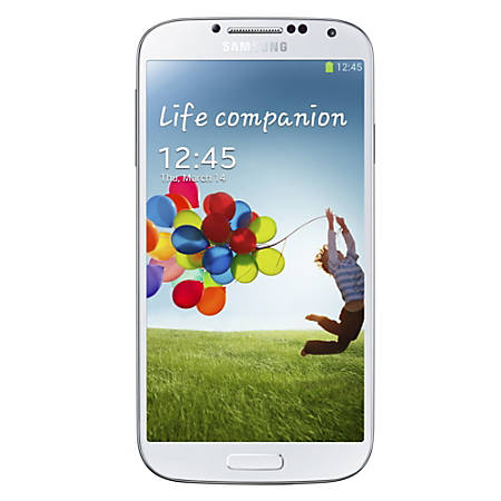 Samsung Galaxy S4 I545 Refurbished Cell Phone, White, PSU100141