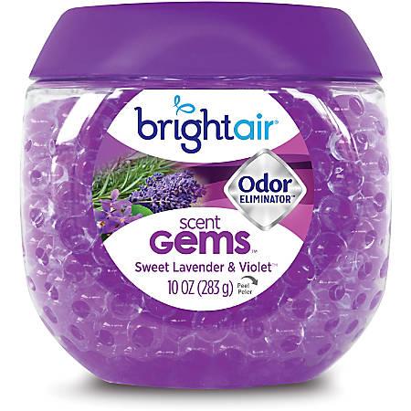 Bright Air Sweet Gems Lavender Odor Eliminator - Gel - 10 oz - Sweet Lavender & Violet - 45 Day - 1 Each - Long Lasting, Phthalate-free, BHT Free, Odor Neutralizer, Triclosan-free