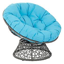 Office Star Papasan Chairs BlueGray Set