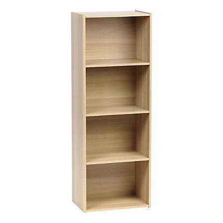 """IRIS 46""""H 4-Tier Storage Shelf, Light Brown"""