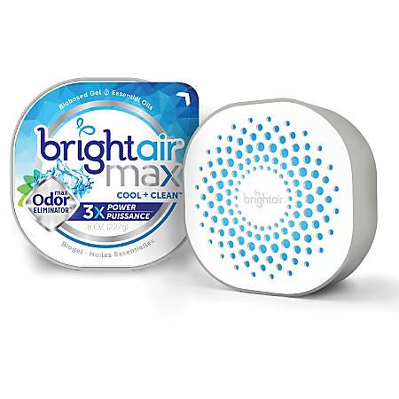 Bright Air Max Scented Gel Odor Eliminator - Gel - 8 oz - Cool Clean - 6 / Carton - Odor Neutralizer, Phthalate-free, Paraben-free, BHT Free, Bio-based, Formaldehyde-free, NPE-free