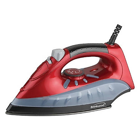 Brentwood Non-Stick Steam/Dry, Spray Iron in Red (MPI-61)