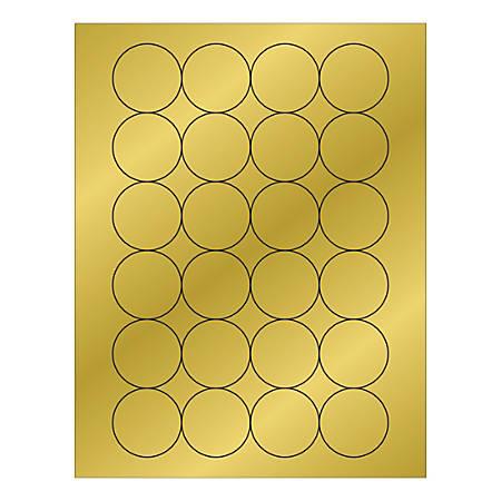 "Office Depot® Brand Foil Circle Laser Labels, LL218GD, 1-11/16"", Gold, Pack Of 2,400 Labels"