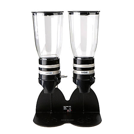 Mind Reader Standing Base With Coffee And Sugar Dispenser, Double, Black