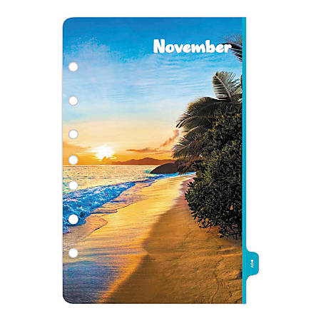 """Day-Timer® Coastlines Weekly Planner Refill, Desk Size, 5-1/2"""" x 8-1/2"""", January to December 2020"""