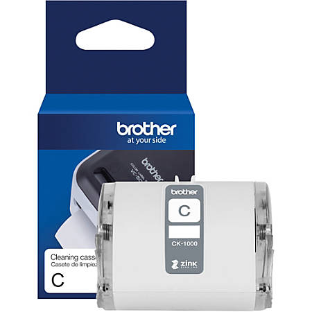 """Brother Genuine CK-1000 ~ 2 (1.97"""") 50 mm wide x 6.5 ft. (2 m) Cleaning Roll for Brother VC-500W Label and Photo Printers - For Printer - 1 - White"""