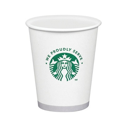 Starbucks® Compostable Hot & Cold Cups, 12 Oz, White, Carton Of 1,000 Item  # 818028