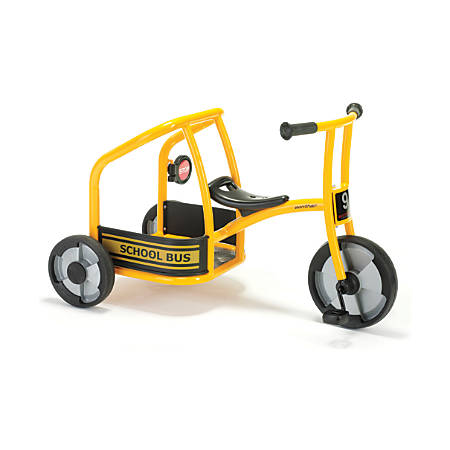 "Winther Circleline Tricycle, School Bus, 24 1/16""H x 23 1/4""W x 39 13/16""D, Yellow/Black"