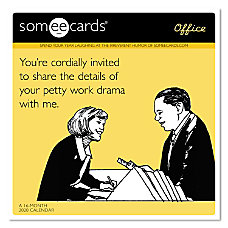 Mead Someecards Office Monthly Wall Calendar