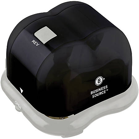 """Business Source Electric Hole Punch - 2 Punch Head(s) - 10 Sheet Capacity - 9/32"""" Punch Size - Black, Gray"""