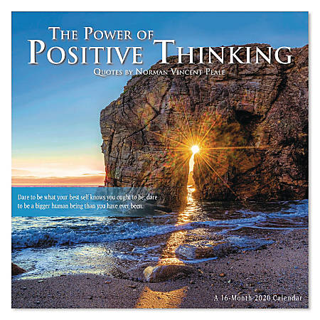 "Mead® The Power Of Positive Thinking Monthly Wall Calendar, 12"" x 12"", January to December 2020, ODD143-28"