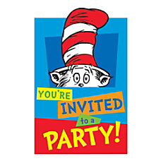 Amscan Dr Seuss Postcard Invitations With