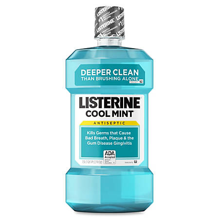 Listerine Cool Mint Antiseptic Mouthwash, 1.5 Liters