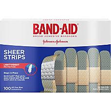 Johnson Johnson Sheer Bandage Strips 1140
