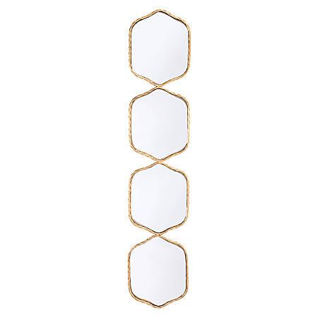 """Zuo Modern Rectangular Mirror, 43 5/16""""H x 9 1/8""""W x 5/8""""D, Gold"""