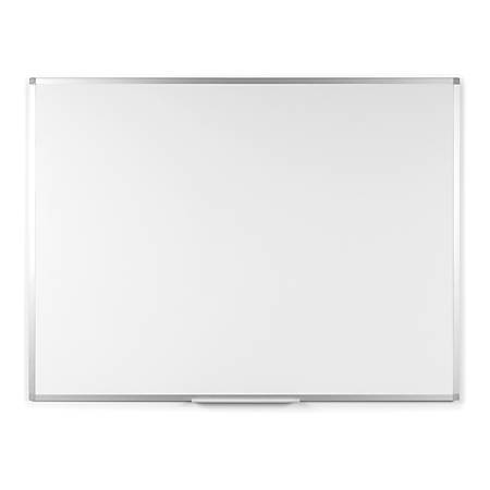 "Bi-silque Ayda Steel Dry Erase Board - 24"" (2 ft) Width x 36"" (3 ft) Height - White Steel Surface - Aluminum Frame - Rectangle - Horizontal/Vertical - Wall Mount - 1 Each"
