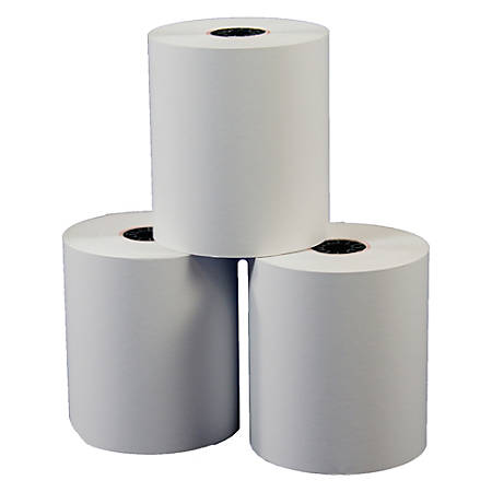 Single-Ply Thermal Paper Rolls Without BPA, 3 1/8