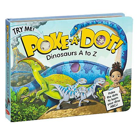 Melissa & Doug Poke-A-Dot Interactive Board Book, Dinosaurs: A To Z