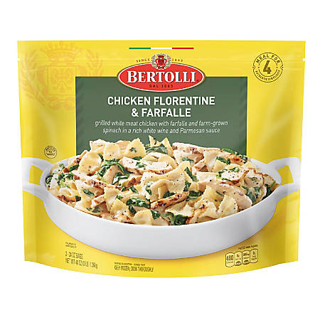 Bertolli Chicken Florentine & Farfalle Classic Skillet Meal, 24 Oz, Pack Of 2 Bags
