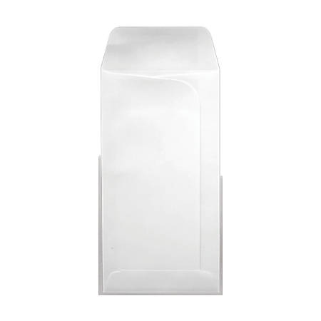 """LUX Large Drive-In Banking Envelopes With Moisture Closure, #7, 3 3/4"""" x 7"""", White, Pack Of 50"""