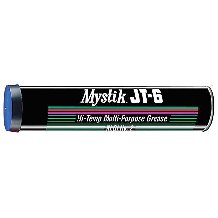Mystik JT-6® Multipurpose Hi-Temp Grease, 14 Oz, Pack Of 10 Cartridges