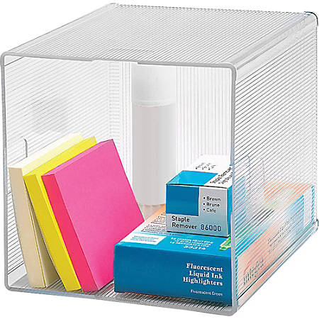 "Sparco Storage Cube Organizer - 6"" Height x 6"" Width x 6"" Depth - Desktop - Clear - 1Each"