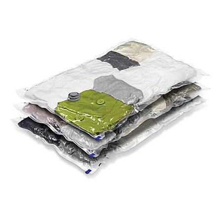 Honey-Can-Do Vacuum-Pack Storage Bags, Large, Pack Of 3