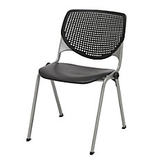 KFI Studios KOOL Stacking Chair BlackSilver