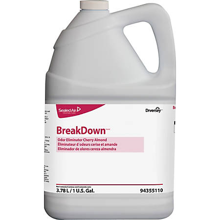 Diversey Care BreakDown Odor Eliminator, Cherry Almond, 128 Oz